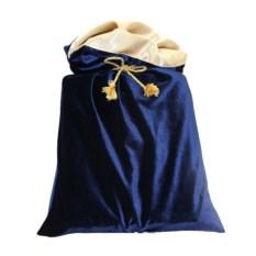 Синий подарочный мешок
