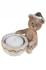 Подсвечник для свечи-таблетки Медвежонок