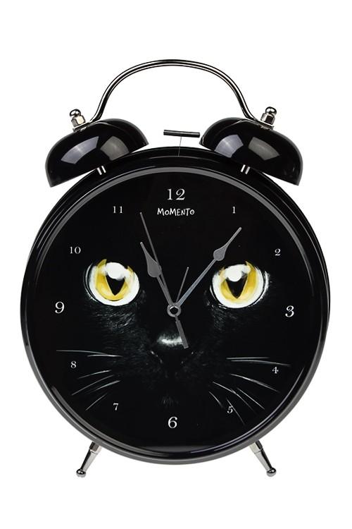 Настольные часы Черный кот