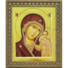 Большая икона Божией матери Казанская Swarovski