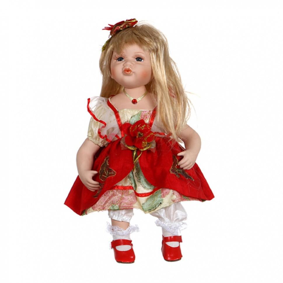 Фарфоровая мягконабивная кукла Беляночка от Jiangsu Holly