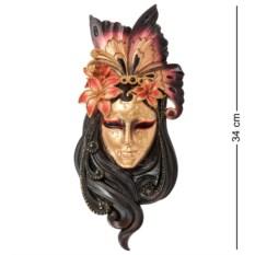 Венецианская маска Лилия (цвет — оранжево-черный)