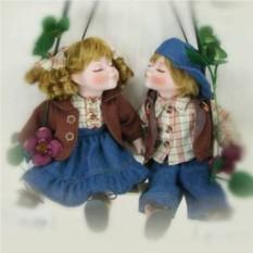 Фарфоровые парные куклы Валентин и Валентина