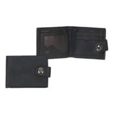 Черное мужское портмоне на магните Жак