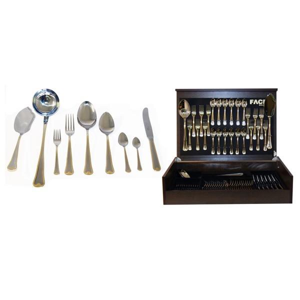 Набор столовых приборов на 12 персон Falperra Gold