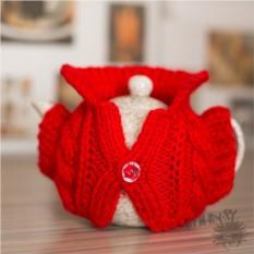 Свитерок на  чайник Душегреечка (красный)