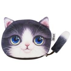 Кошелек Котик с хвостом (фиолетовый)