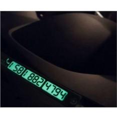 Светящаяся табличка с номером телефона в авто