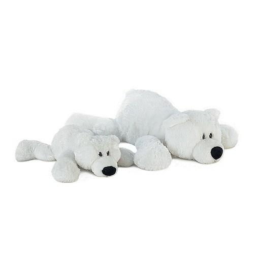 Мягкая игрушка Aurora Медведь белый лежачий, 35 см