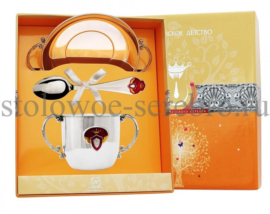 Серебряный столовый набор Принцесса №145