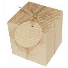 Рифленая подарочная коробка Крафт. Куб