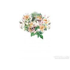 Женская футболка Flowers and skulls