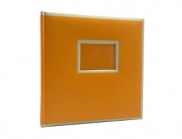 Оранжевый фотоальбом с окном