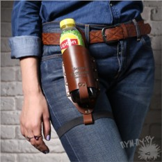 Кожаный холдер для бутылки