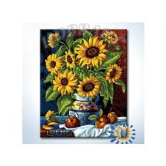 Картины по номерам «Натюрморт с подсолнухами»