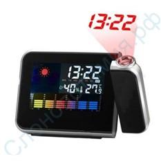 Часы-будильник с проектором и метеостанцией