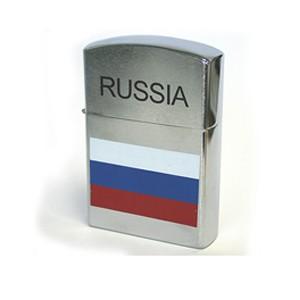 Зажигалка RUSSIA флаг 17 см