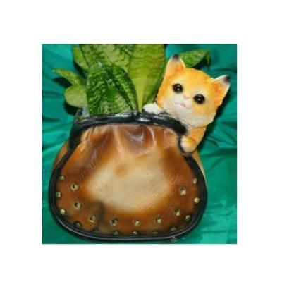 Кашпо «Котенок в кошельке»