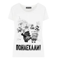 Женская футболка «Винни Пух. Понаехали»