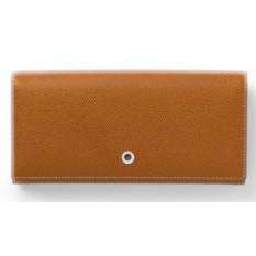 Коричневый женский кошелек на кнопке Graf von Faber-Castell