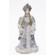 Фигурка из ткани Снегурочка с варежками