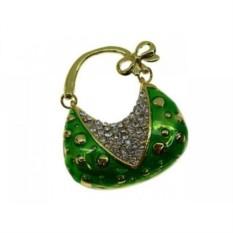 Флешка Сумочка с бантиком зеленая