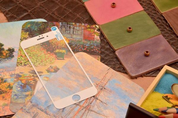 Защитное стекло Sipo для iPhone 6 белой окантовкой
