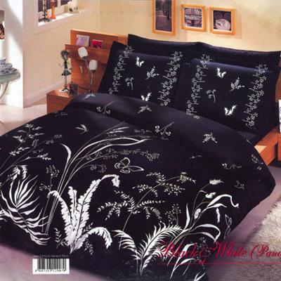 Постельное белье Black White черный