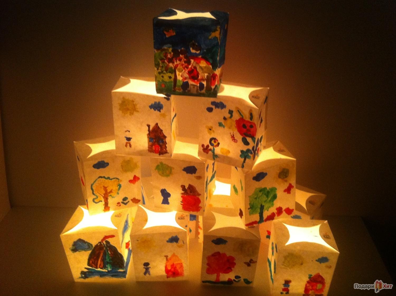Декоративные фонарики Светокубики, серия Рисовалки