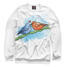Свитшот Влюблённые птички