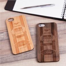Деревянный чехол для iPhone Форд с гравировкой