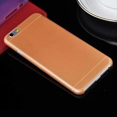 Ультратонкая оранжевая матовая накладка для iPhone 6 Plus