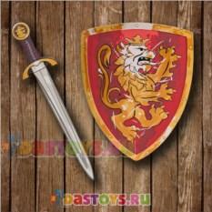 Игровой набор рыцаря Красный щит и меч