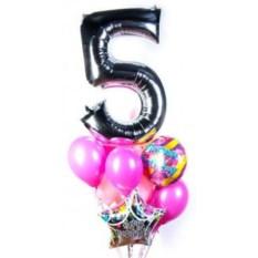 Букет шаров с цифрой Стала старше