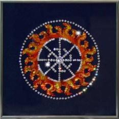 Картина с кристаллами Swarovski Оберег - Свитовит