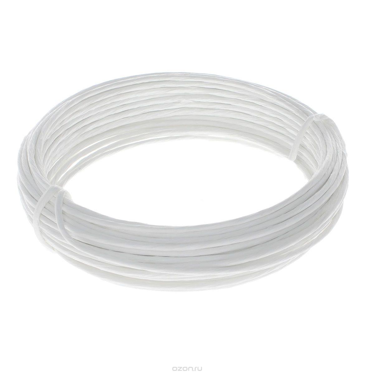 Проволока для рукоделия Folia, в бумажной оплетке, цвет: белый