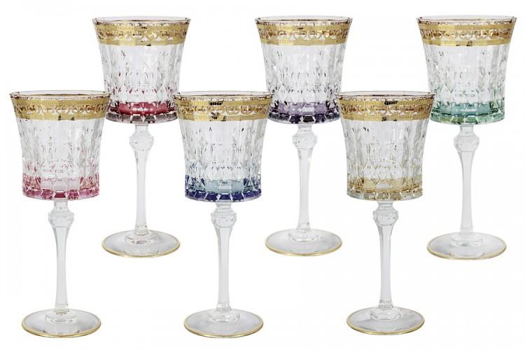 Подарочный набор из 6 бокалов для вина Цветная Флоренция