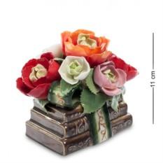 Фарфоровая музыкальная композиция Цветы и книги