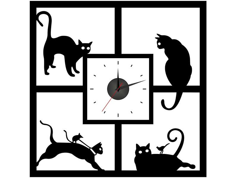 Интерьерные часы Кошкин Дом