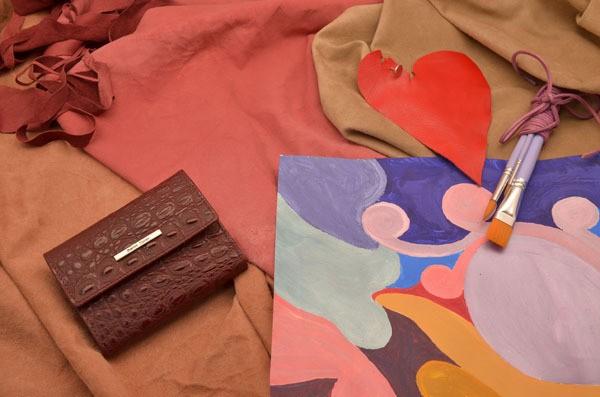 Коричневое кожаное портмоне из коллекции Gianni Conti