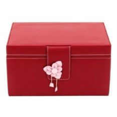 Розовая шкатулка для драгоценностей с бантом