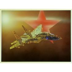 Картина Swarovski Самолет