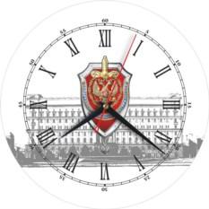 Настенные стеклянные часы ФСБ
