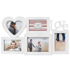 Белая рамка для 5-ти фото Любовь