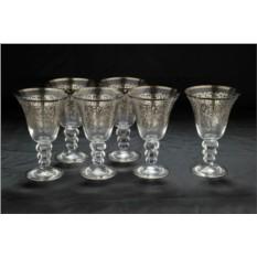 Набор из 6 хрустальных бокалов для вина Ажур Casa K