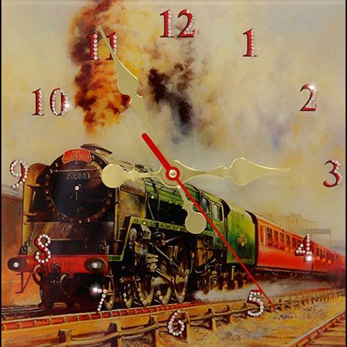 Часы с кристаллами Swarovski Локомотив
