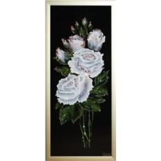 Картина с кристаллами Swarovski Белые розы