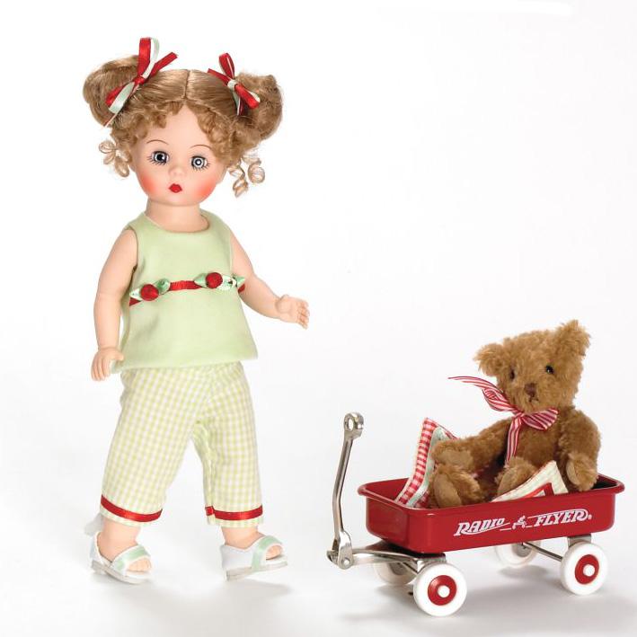 Кукла «Венди и медвежонок в тележке»