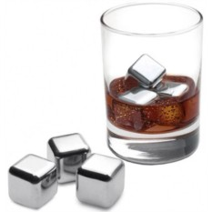 Стальные кубики для охлаждения напитков, 4 шт