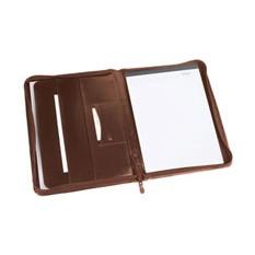 Папка для документов на молнии, коричневая